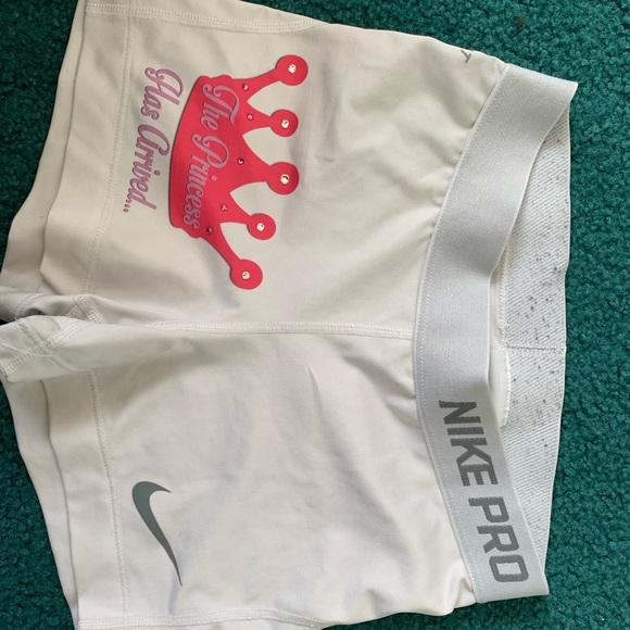 Nike Pants - White nike pro shorts